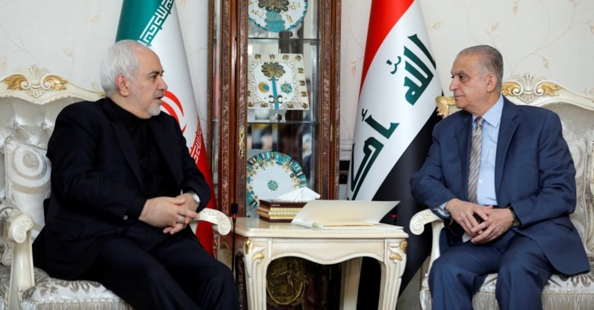 Iranian Foreign Minsiter, Mohammad Javad Zarif, meets with Iraqi Foreign Minister Mohamed Ali Alhakim in Baghdad, Iraq May 26, 2019. (AP Photo)