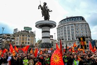 Thousands of Macedonians protest name deal with Greece