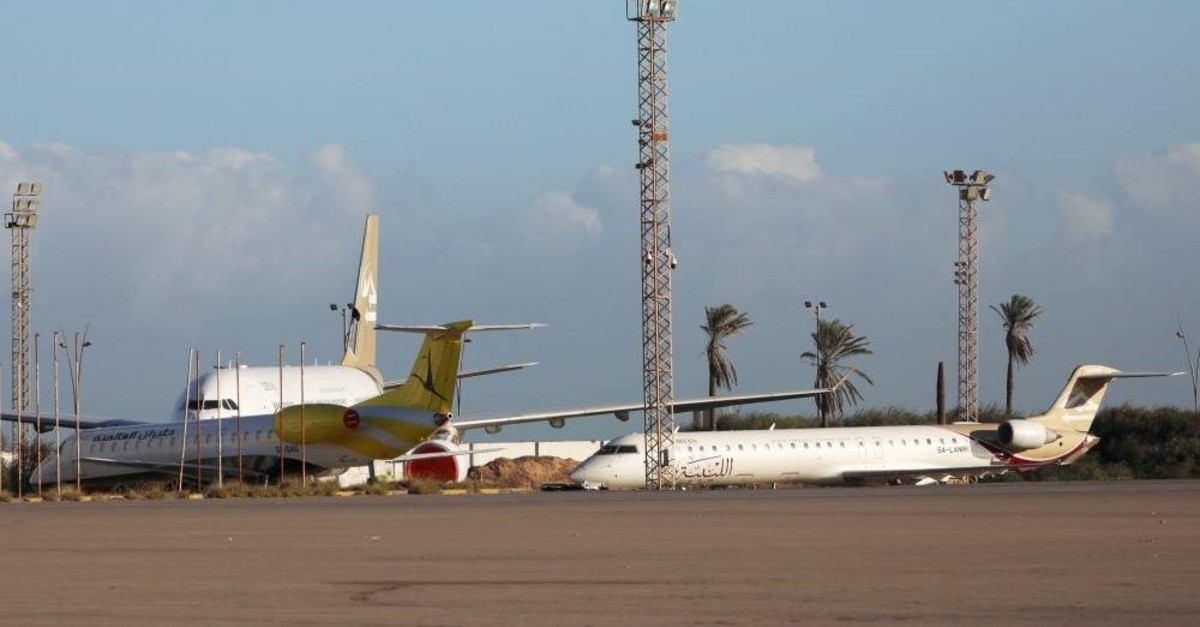 Planes are seen after the reopening of Mitiga Airport in Tripoli, Libya,  Dec. 12. (Reuters File Photo)