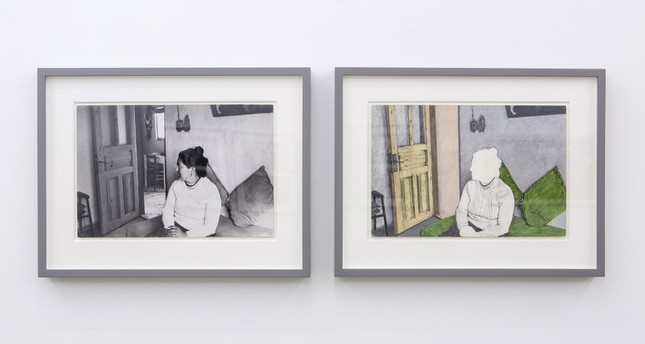 """Rahime, Kurdish Woman from Turkey,"" 1979 Installation with photographs, video and drawings Variable dimensions"