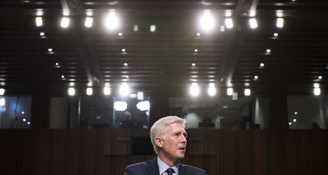 Neil Gorsuch testifies before the Senate Judiciary Committee on his nomination to be an associate justice of the US Supreme Court. (AFP Photo)