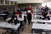 من امتحانات الدخول للجامعات التركية (الأناضول)
