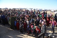 Nearly 50,000 people, mostly women and children, are stranded at Syria's southern border with Jordan, an increasingly unsafe area where airstrikes were reported in the last few days, the United...
