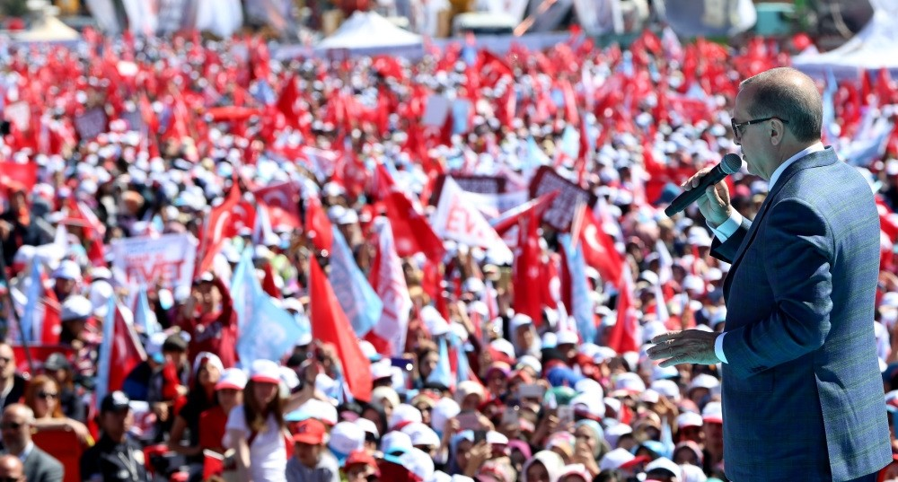 President Erdou011fan addressed hundreds of thousands of citizens in the capital city of Ankara.