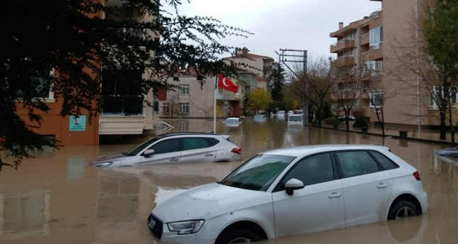 Flash floods inundated the city late Tuesday and yesterday.