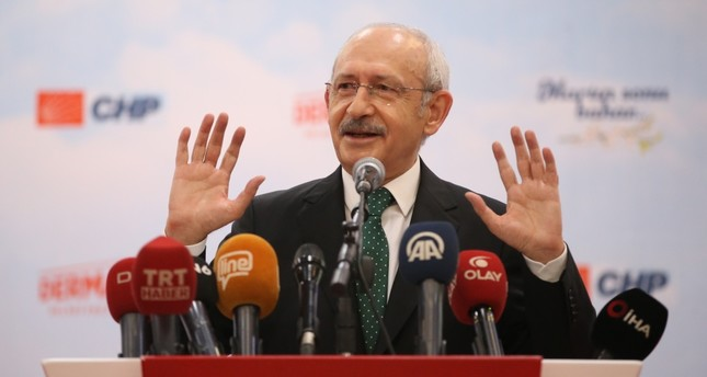 CHP Chairman Kemal Kılıçdaroğlu delivers a speech in northwestern Bursa province, Feb. 28, 2019.