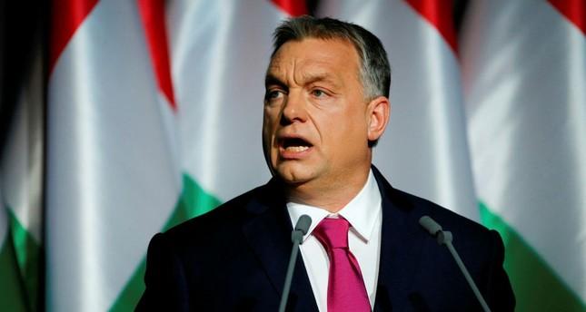 Hungarian Prime Minister Viktor Orban speaks during his State of the Nation address in Budapest on Feb. 10.