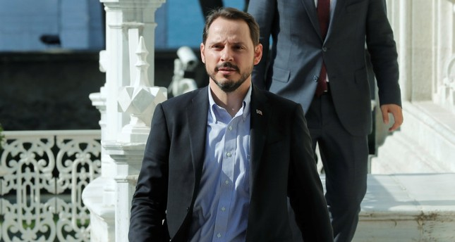 Treasury and Finance Minister Berat Albayrak is pictured before an interview with Reuters in Istanbul, Sept. 2.