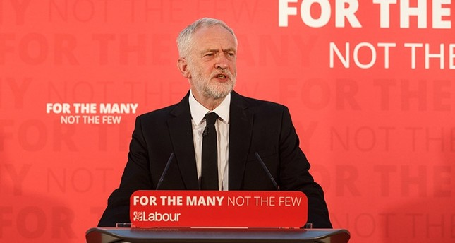 Britain's Labor Party leader Jeremy Corbyn delivers a speech at the County Hotel, Carlisle, Britain, 04 June 2017. (EPA Photo)