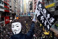 Protesters mark half year protest anniversary in Hong Kong as government urges calm