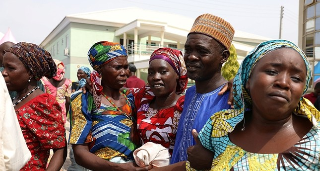 Newly released 82 Chibok school girls reunite with their families in Abuja, Nigeria May 20, 2017. (Reuters Photo)