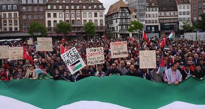 الآلاف يتظاهرون في فرنسا احتجاجا على المجزرة الإسرائيلية في غزة