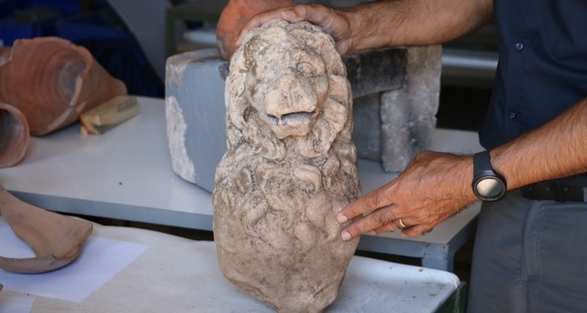 The sculpture of lion was discovered in excavations of a complex which used to be an inn.