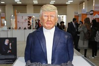 One of the highlights at a Turkish chocolate festival has been U.S. President Donald Trump — made of cake icing.