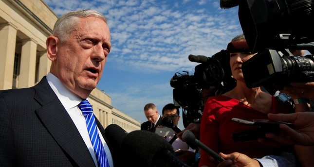Secretary of Defense Jim Mattis, speaks to reporters at the Pentagon, Friday, July 27, 2018. (AP Photo)