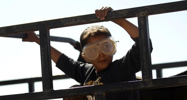 طفل سوري قرب الرقة