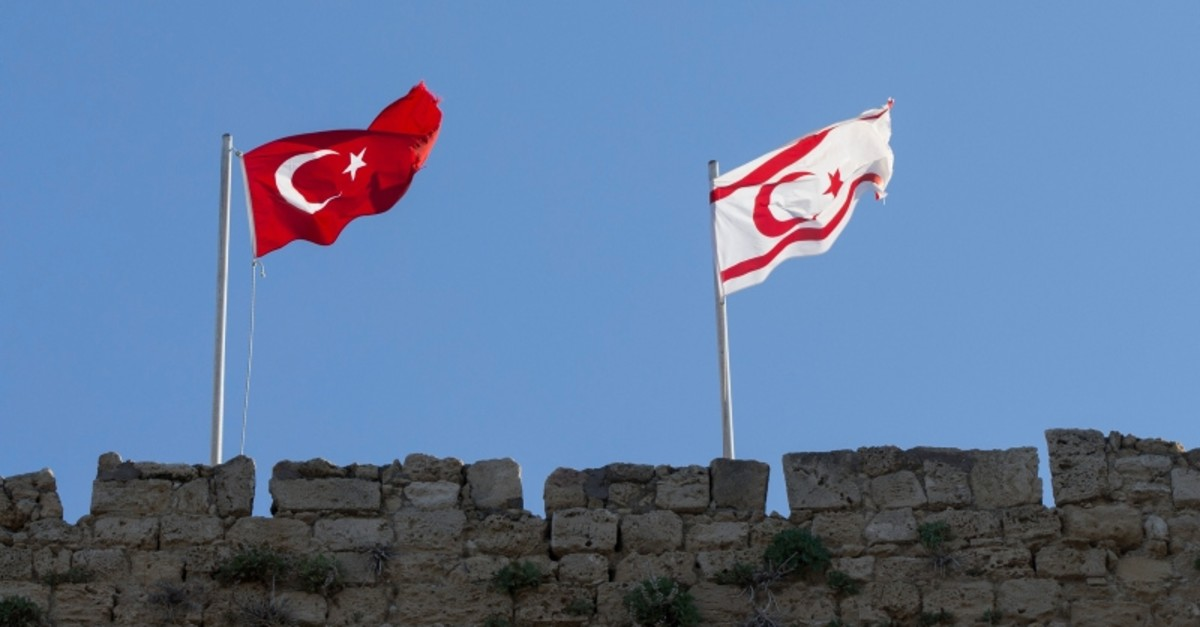 Turkish and Turkish Republic of Northern Cyprus (TRNC) flags (AA File Photo)