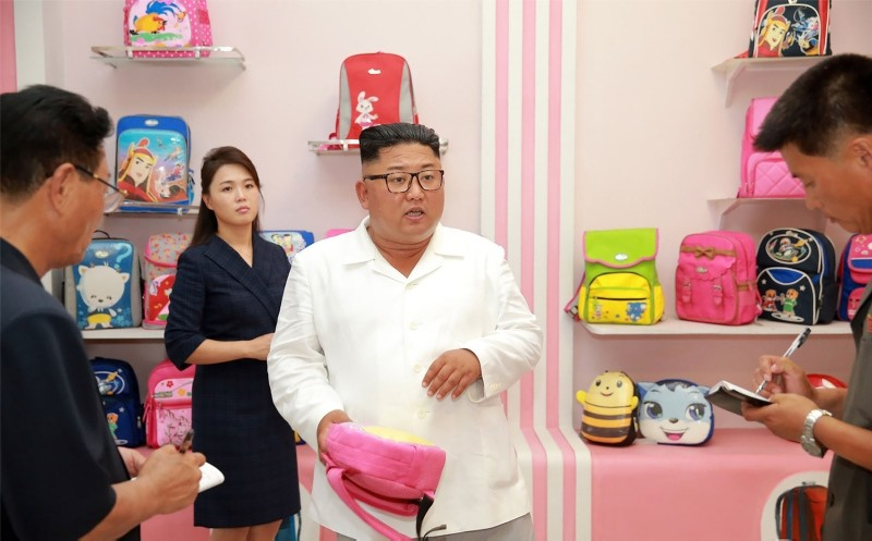 North Korean leader Kim Jong Un inspects a factory in this undated photo released by North Korea's Korean Central News Agency (KCNA) on July 25, 2018. (KCNA via Reuters)