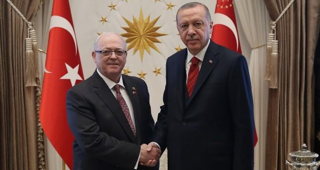 أردوغان يستقبل رئيس مجلس الشيوخ الكندي