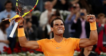 Nadal breaks record with 50th consecutive set win