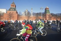 Hundreds ride bike in intense cold in Russia