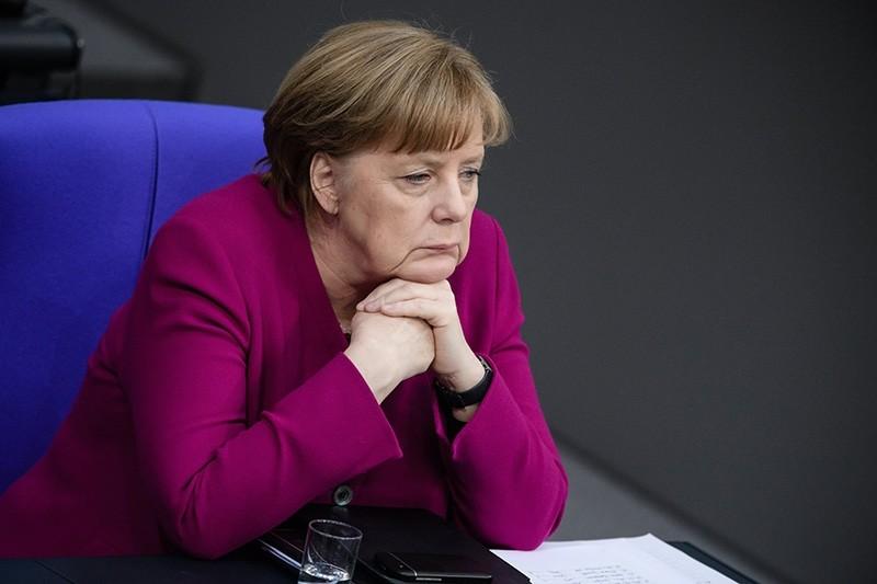 German Chancellor Angela Merkel during a debate at the German Bundestag in Berlin, Germany, 21 March 2018. (EPA Photo)