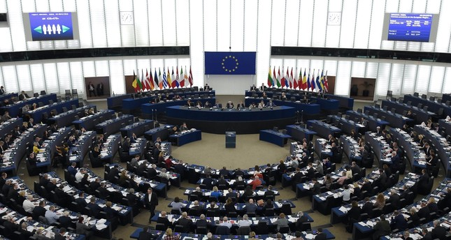The European Parliament holds a plenary session, Strasbourg, Feb. 13, 2019.