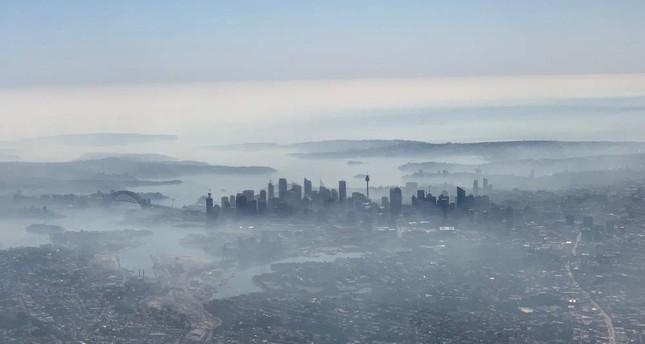 Smoke haze covers Sydney, Tuesday, Nov. 19, 2019, as wildfires burn near the city. (AAP Image via Reuters)
