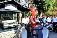 An electric car developed by Turkish students for a scientific contest met Monday with the first national automobile produced in Turkey.  The Kayseri branch of the National Turkish Students Union...