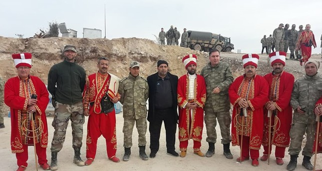 Ottoman military band Mehter performs on Turkey-Syria border