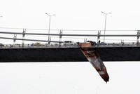 Activists hang banner on Istanbul bridge in support of Jerusalem