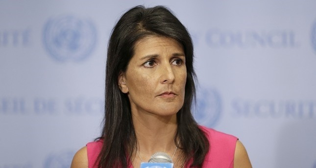 In this Friday, Aug. 25, 2017, file photo, United States Ambassador to the United Nations Nikki Haley speaks to reporters at U.N. headquarters. (AP Photo)