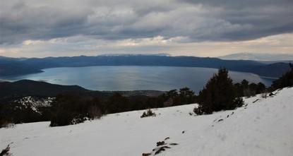 Splendid Lake Salda now welcomes skiers, snowboarders