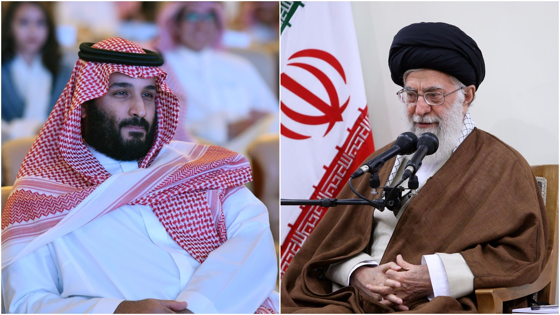 Combination of images shows Saudi Crown Prince Mohammed bin Salman (L) and Iran's Supreme Leader Ayatollah Khamenei. (AFP/REUTERS Photo)