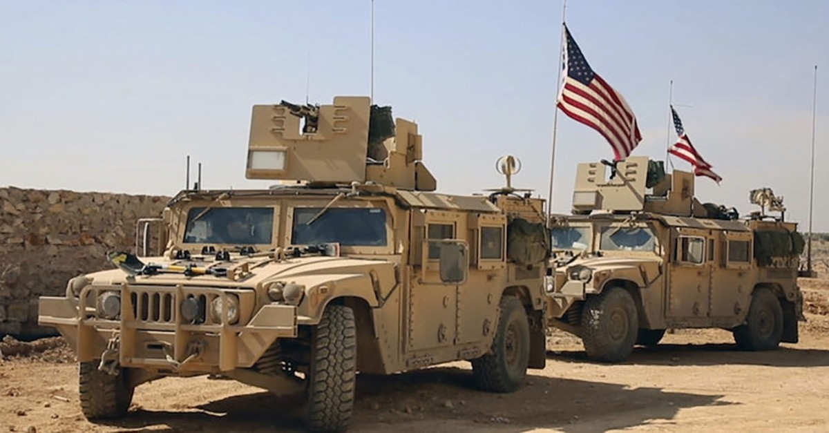 U.S. military vehicles in Syria's YPG controlled area, Dec. 21, 2018.