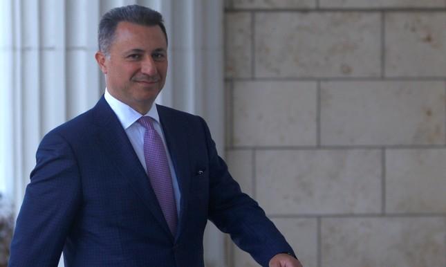 Former Macedonian prime minister Nikola Gruevski enters a court in Skopje, Macedonia, October 5, 2018. (Reuters Photo)