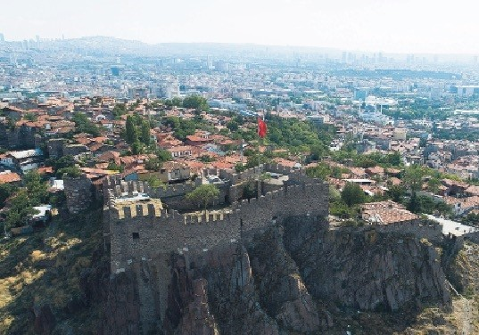 Ankara Castle sits on a strategic position overlooking the city.