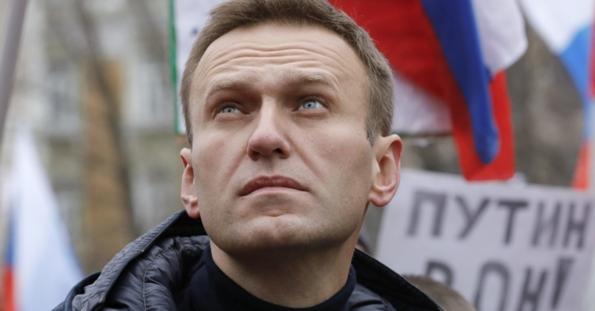 Russian opposition leader Alexei Navalny attends a rally in memory of politician Boris Nemtsov, who was assassinated in 2015, in Moscow, Russia February 24, 2019. (Reuters Photo)