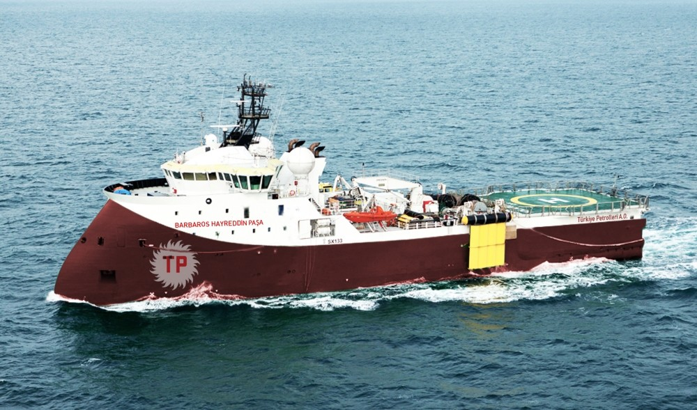 Turkish seismic vessel Barbaros Hayrettin Pau015fa carried out drilling operations both in the Mediterranean and Black Sea.
