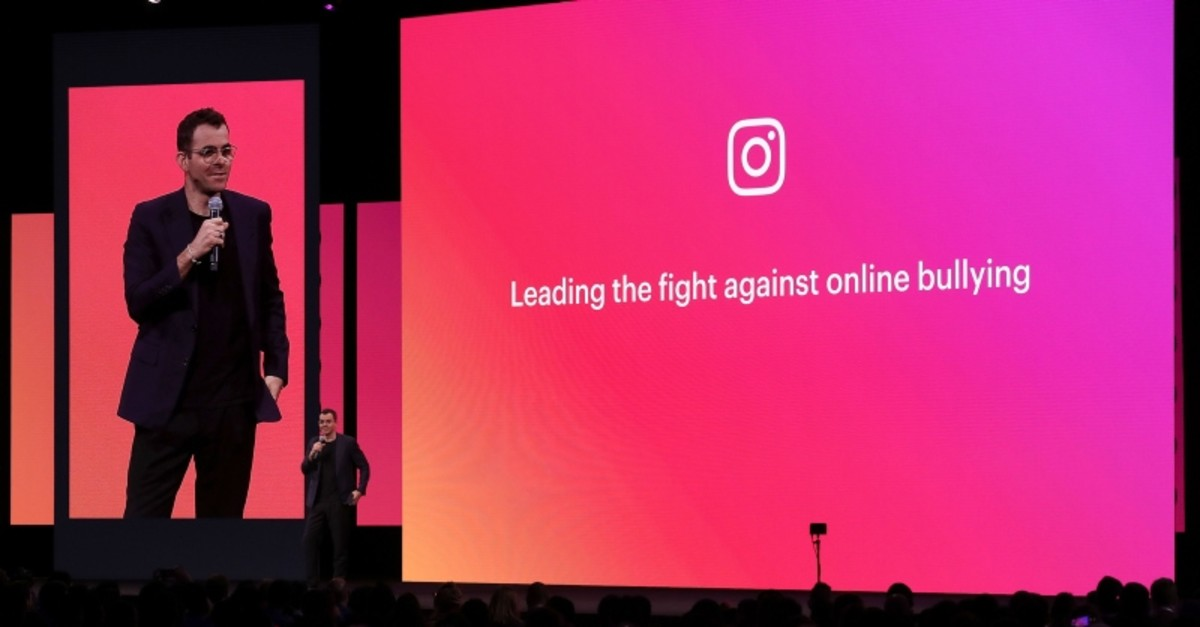 In this file photo taken on April 30, 2019, Instagram product head Adam Mosseri speaks during the F8 Facebook Developers conference in San Jose, California. (AFP Photo)