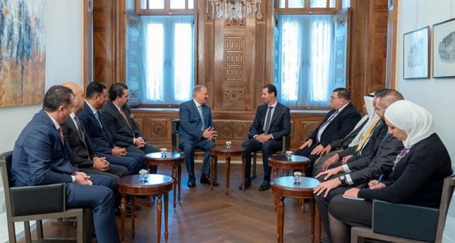 Assad hosts Jordanian delegation for talks in Damascus