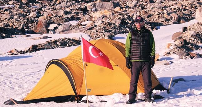 Turkish researcher Mehmet Yeşiltaş conducted his studies at Belgium's base on Antarctica.