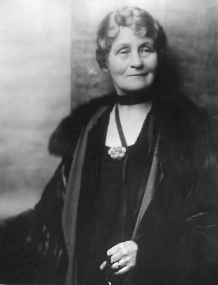 Emmeline Pankhurst, the famed leader of the militant suffragette movement during the votes for women campaign in Britain.