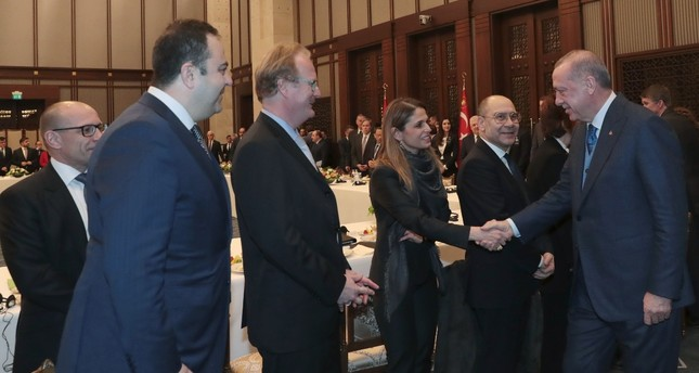 President Recep Tayyip Erdoğan met with the members of the American-Turkish Council and American Chamber of Commerce Turkey on Feb. 7, 2019 and launched the initial phase of a program to triple the bilateral trade volume with the U.S.