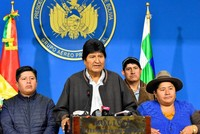 Bolivia's Morales says warrant issued for his arrest