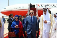 The visit to the Gulf states as part of Ankara's diplomatic efforts to overcome the recent crisis between the Saudi Arabia-led countries and Qatar was