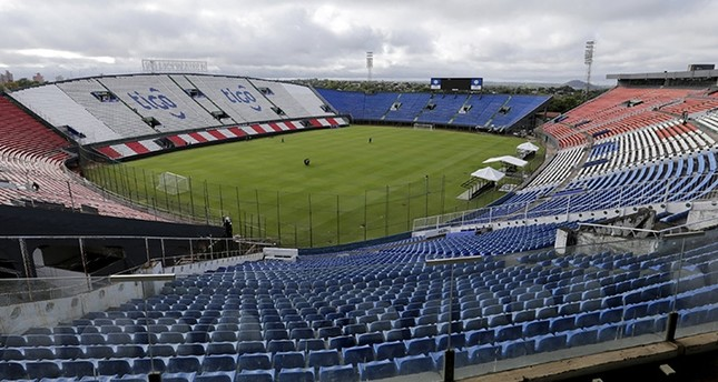 A general view of Defensores del Chaco stadium in Asuncion, Paraguay, October 12, 2015. (Reuters Photo)
