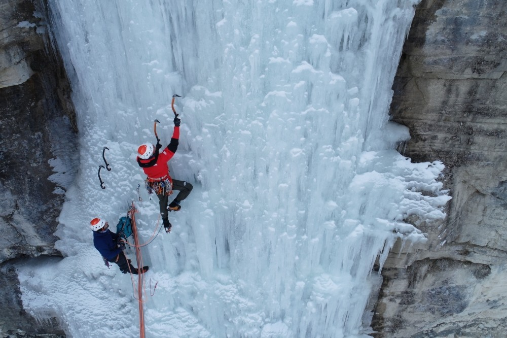 Athletes climbed the frozen Tortum  Waterfall at the Ice Climbing Festival that took place in Erzurum, Turkey, Jan 30, 2019.