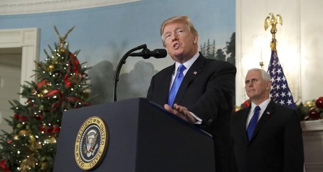 ترامب يعترف بالقدس عاصمة لإسرائيل ويوجه بنقل السفارة من تل أبيب