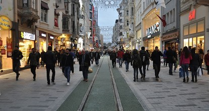 pAs renovation and infrastructure work in Istanbul's famous Istiklal Street is coming to end after a year it was launched, works in the a section of the street was completed Thursday, receiving...